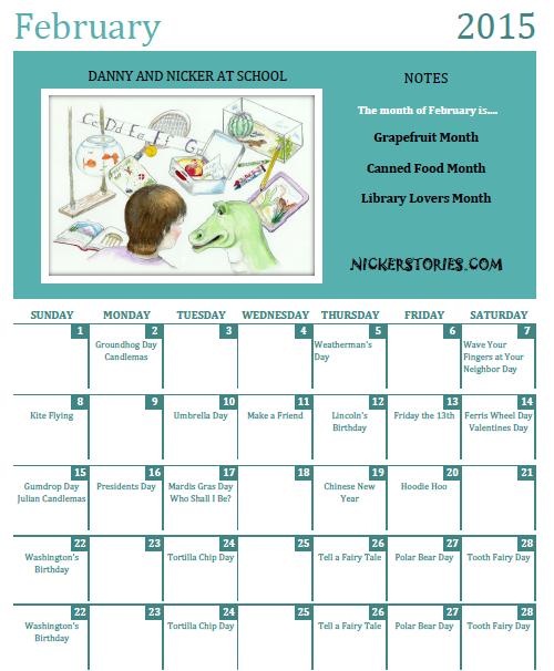 Nicker's Calendar for February 2015